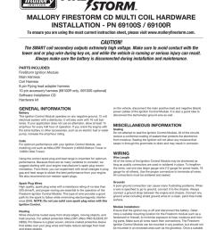 mallory firestorm instructions 69100s 69100r [ 791 x 1024 Pixel ]