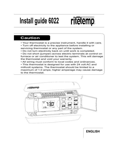 small resolution of install guide 6022 ritetemp thermostats
