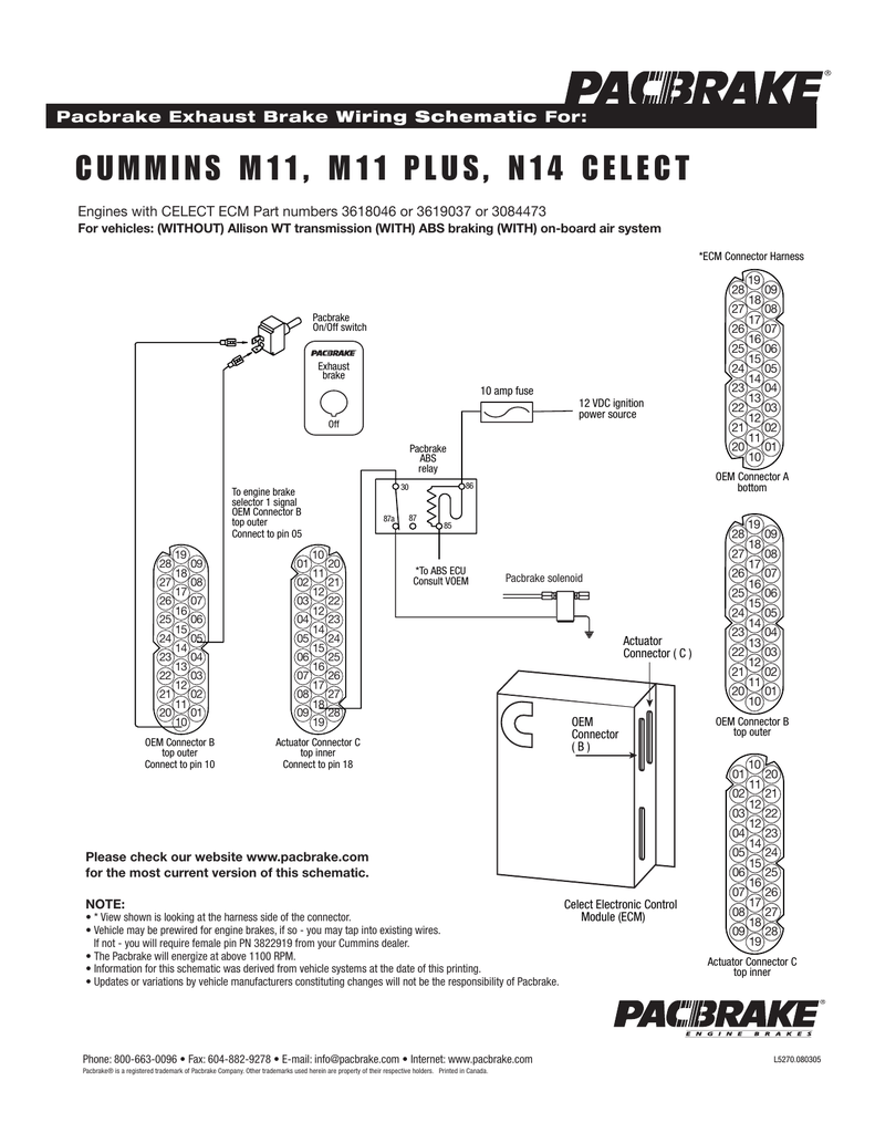 medium resolution of cummins m11 m11 plus n14 celect