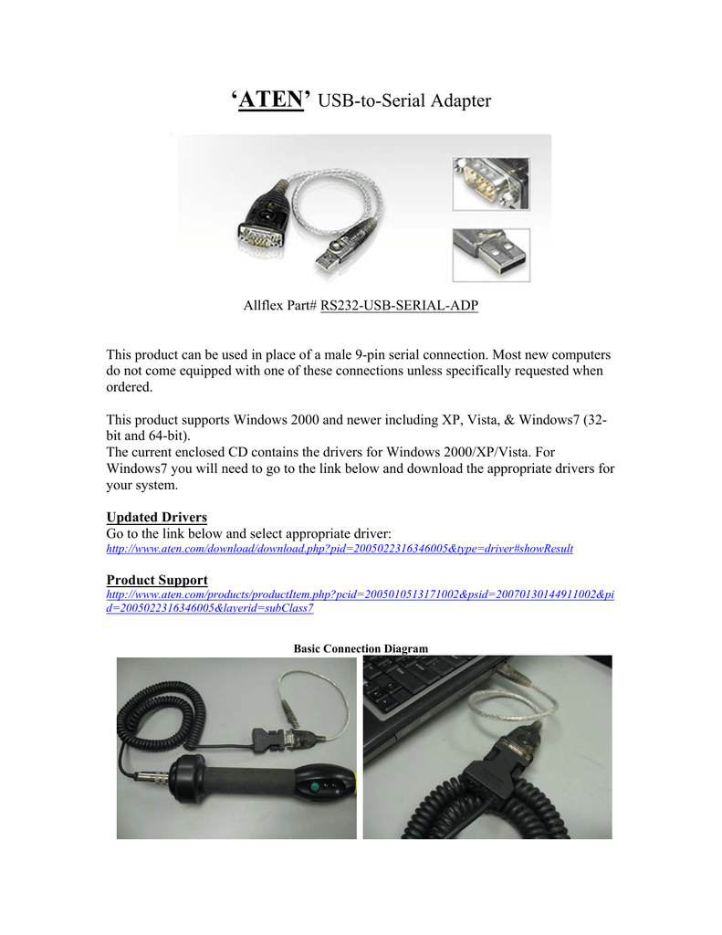 hight resolution of  aten usb to serial adapter manualzz com
