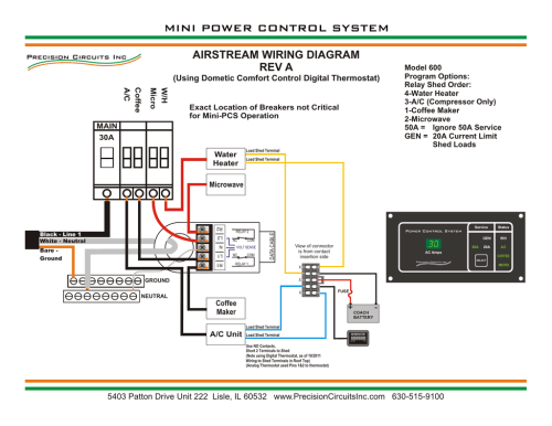 small resolution of power control system mini system wiring airstream a