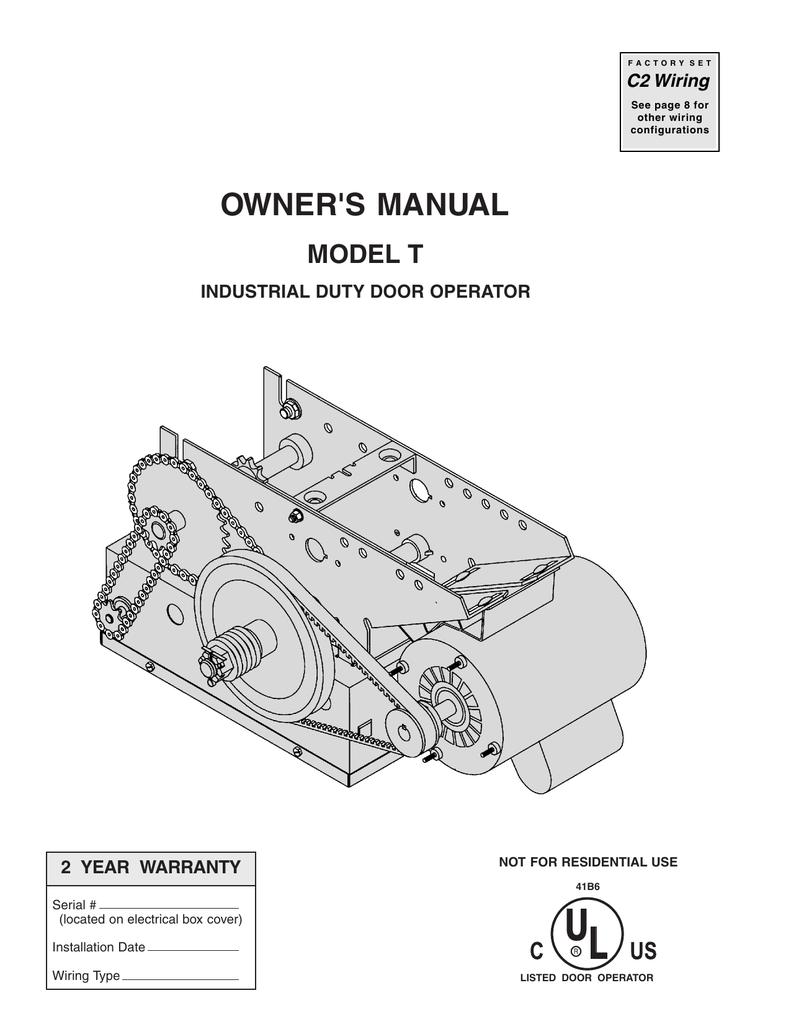 medium resolution of  owner s manual t industrial door operator manualzz com on start stop timer