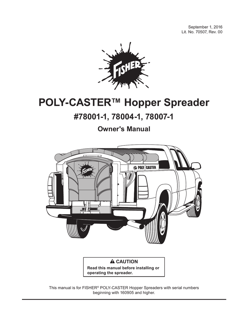 Fisher POLY-CASTER Hopper Spreader 1.5, 1.8, 2.5 Serial