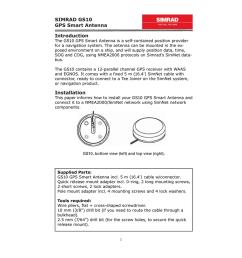 simrad gs10 gps smart antenna introduction installation [ 791 x 1024 Pixel ]