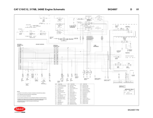 small resolution of cat c10 c12 3176b 3406e engine schematic sk24807