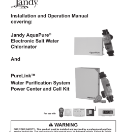 installation and operation manual covering warning purelink [ 791 x 1024 Pixel ]