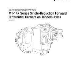 mt 14x series single reduction forward differential carriers on mt 14x series single reduction forward differential carriers on maintenance manual  [ 791 x 1024 Pixel ]