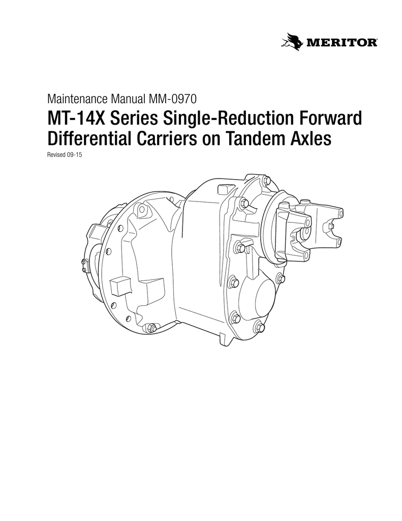 medium resolution of mt 14x series single reduction forward differential carriers on mt 14x series single reduction forward differential carriers on maintenance manual