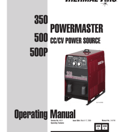 power master 500p 500 350 operator manual [ 791 x 1024 Pixel ]