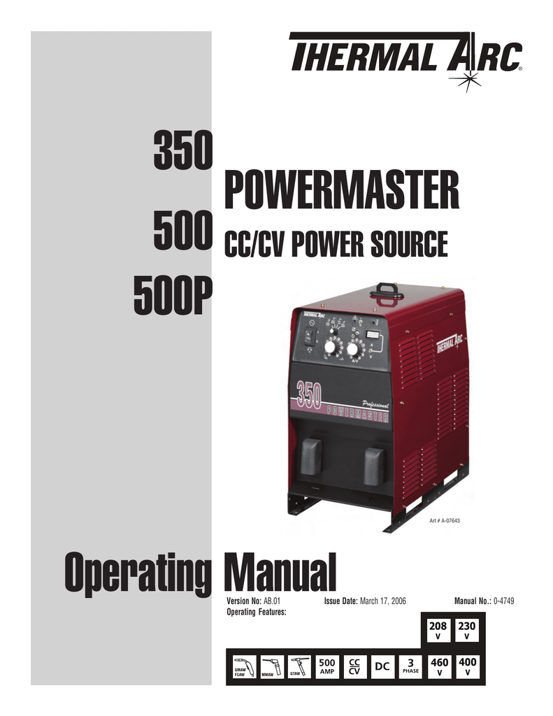 hight resolution of power master 500p 500 350 operator manual