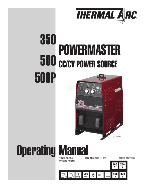 small resolution of power master 500p 500 350 operator manual