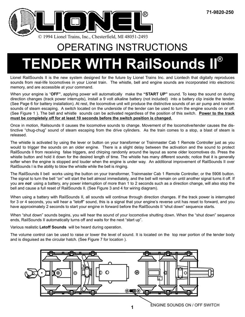 medium resolution of tender with railsounds ii