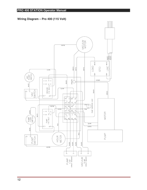 small resolution of pro 400 station operator manual 12 wiring diagram