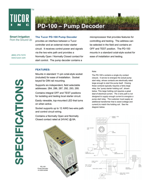 small resolution of tucor pd 100 pump decoder