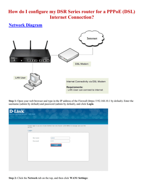 small resolution of how do i configure my dsr series router for a pppoe dsl internet manualzz com