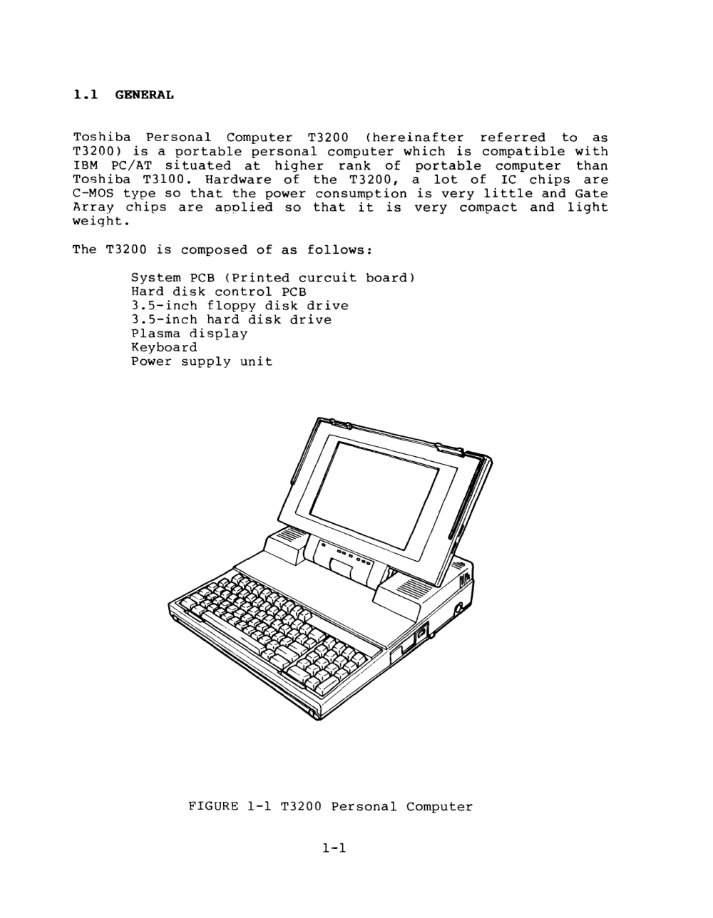 medium resolution of toshiba t3200 maintenance manual