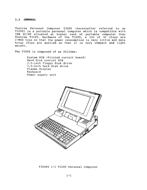 small resolution of toshiba t3200 maintenance manual