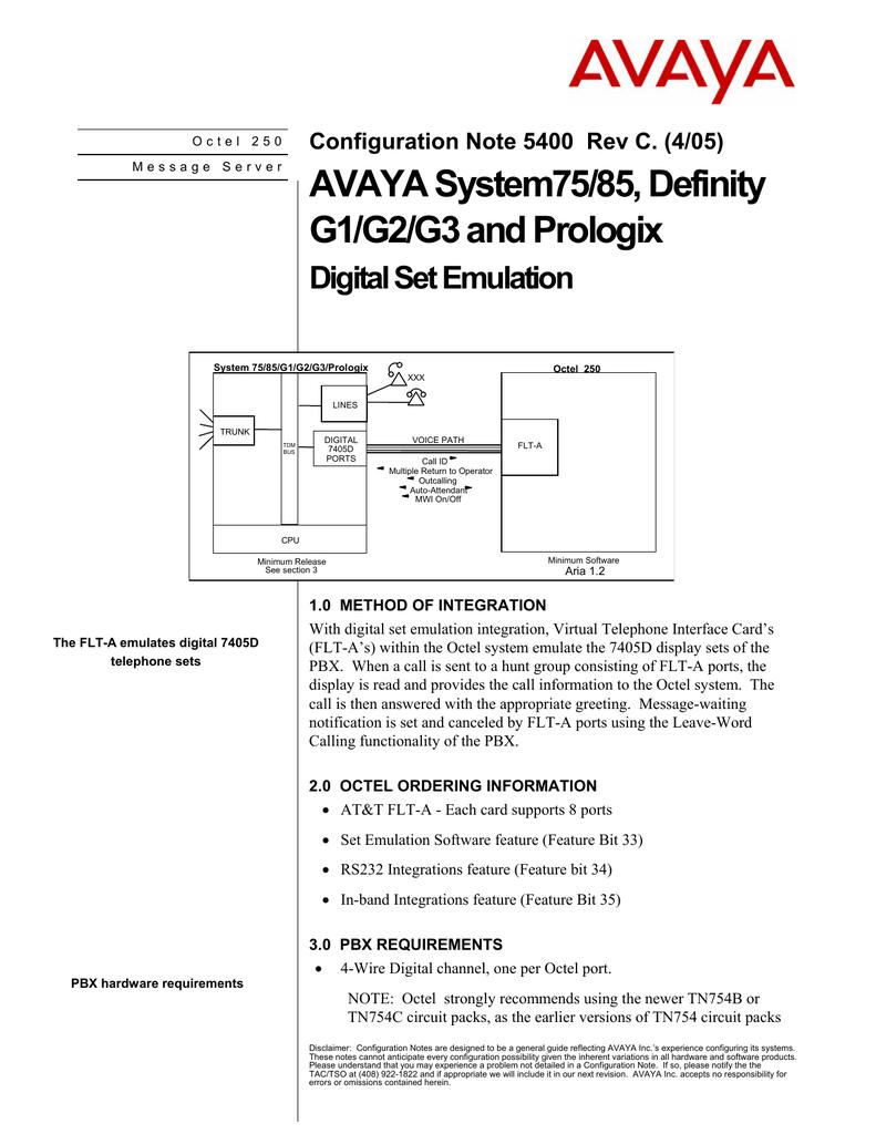 hight resolution of avaya system75 85 definity g1 g2 g3 and prologix