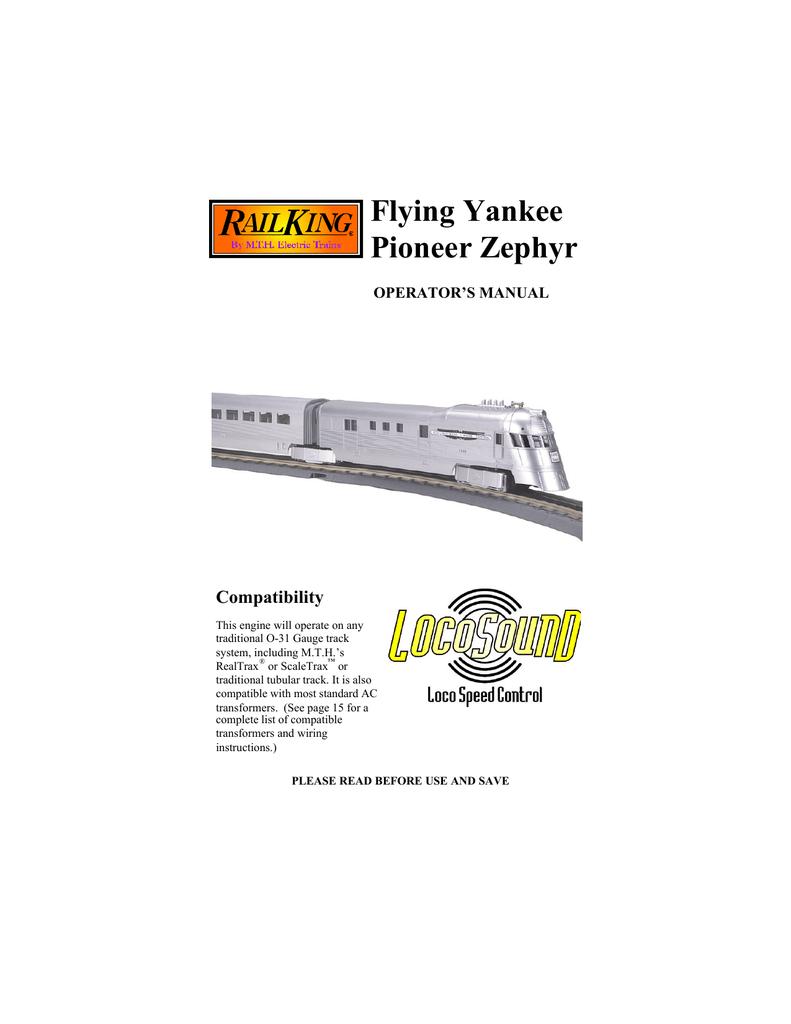 hight resolution of  flying yankee pioneer zephyr manualzz com on lionel milk car lionel subway marnold lionel wiring diagram