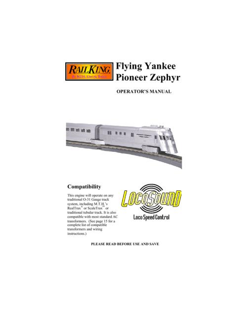 small resolution of  flying yankee pioneer zephyr manualzz com on lionel milk car lionel subway marnold lionel wiring diagram