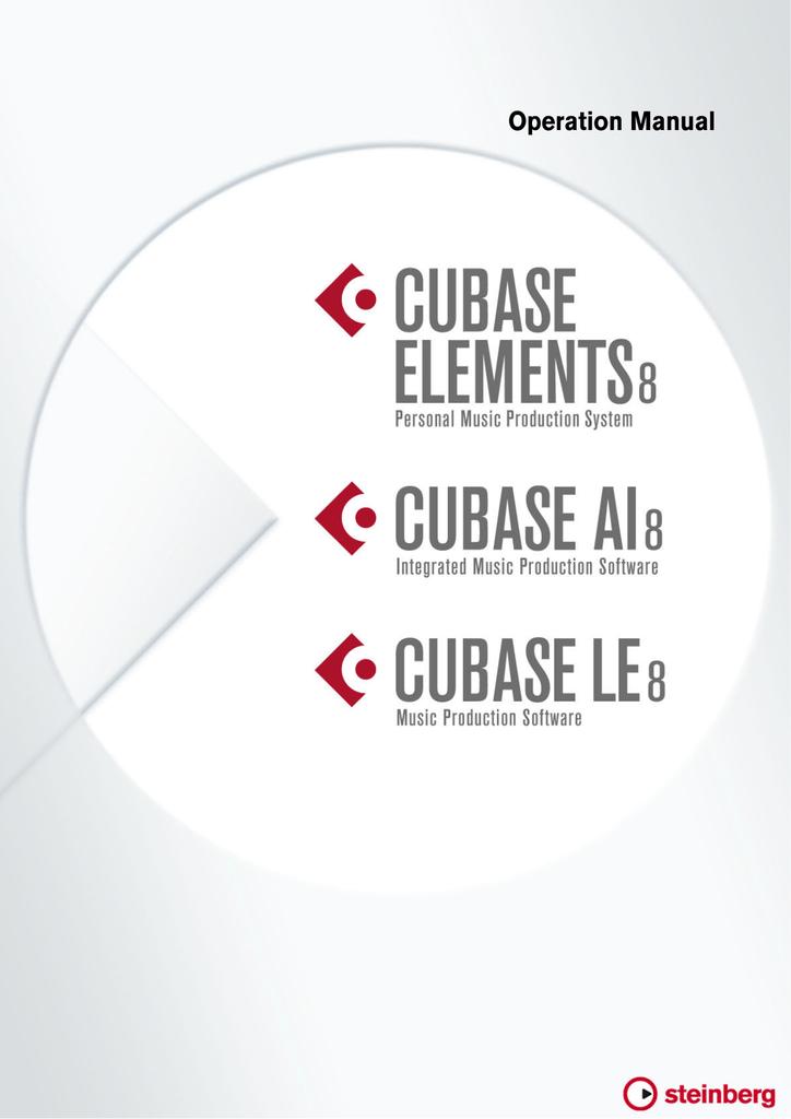Cubase Elements/Cubase AI/Cubase LE 8