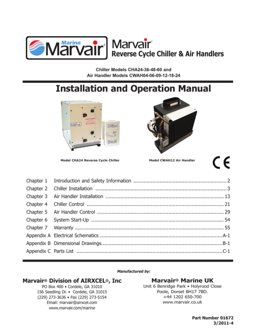 small resolution of installation and operation manual tropical marine air conditioning