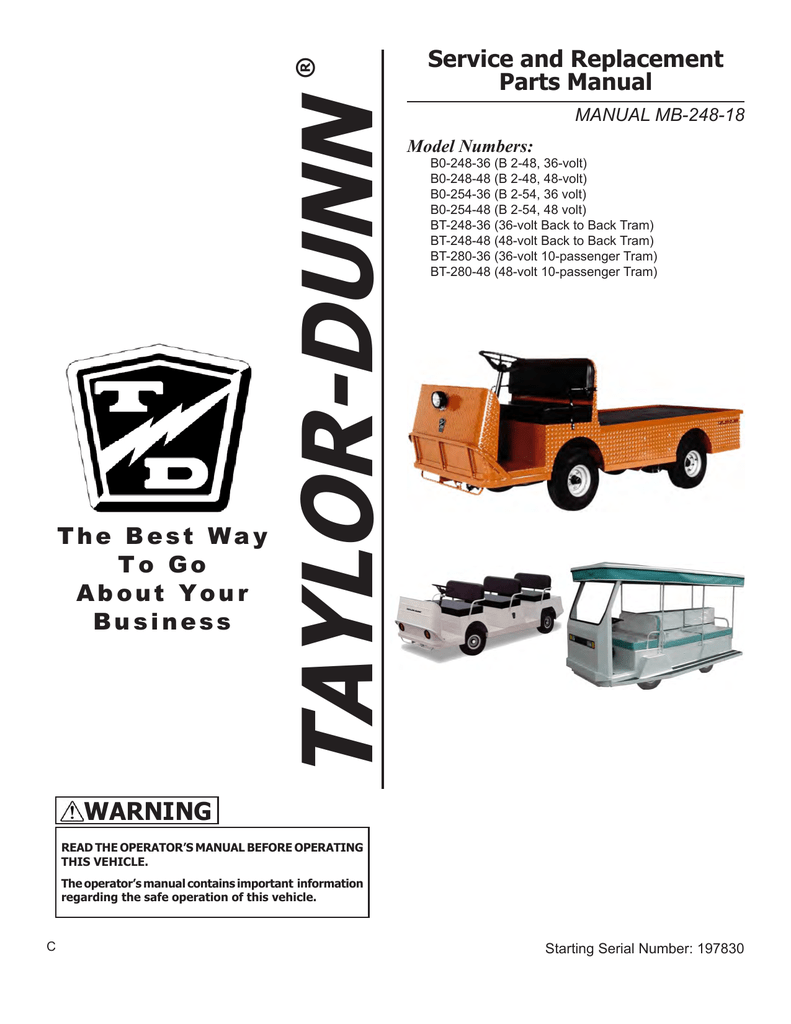 medium resolution of warning taylor dunn manualzz com taylor dunn b0 248 48 wiring diagram 36