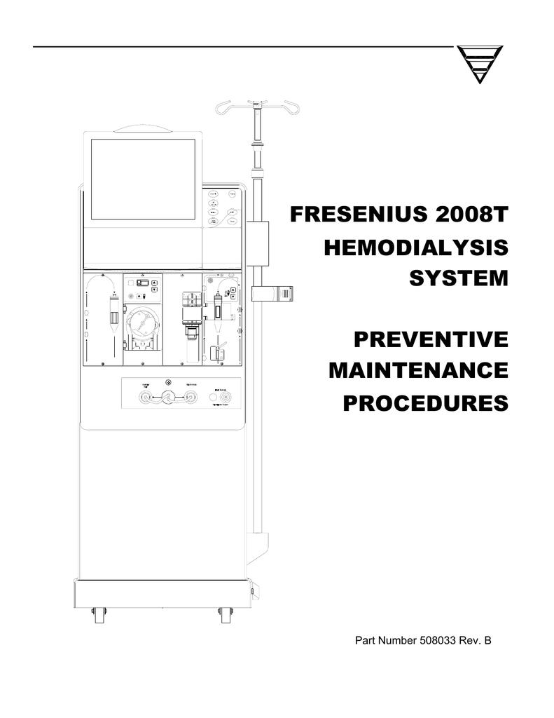 fresenius 2008t hemodialysis system preventive maintenance