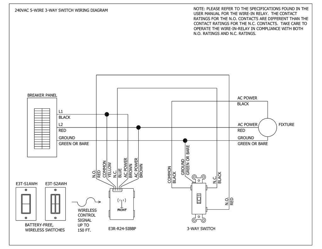 hight resolution of 240vac 5 wire 3 way switch wiring diagram green or