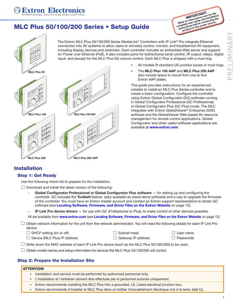 medium resolution of mlc plus 50 100 200 series setup guide