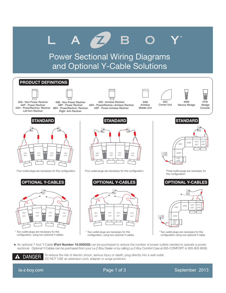 hight resolution of power sectional wiring diagrams la z boy
