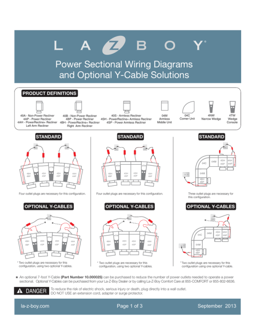 small resolution of power sectional wiring diagrams la z boy