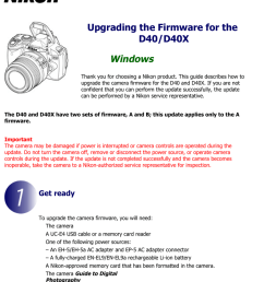upgrading the firmware for the d40 d40x [ 791 x 1024 Pixel ]