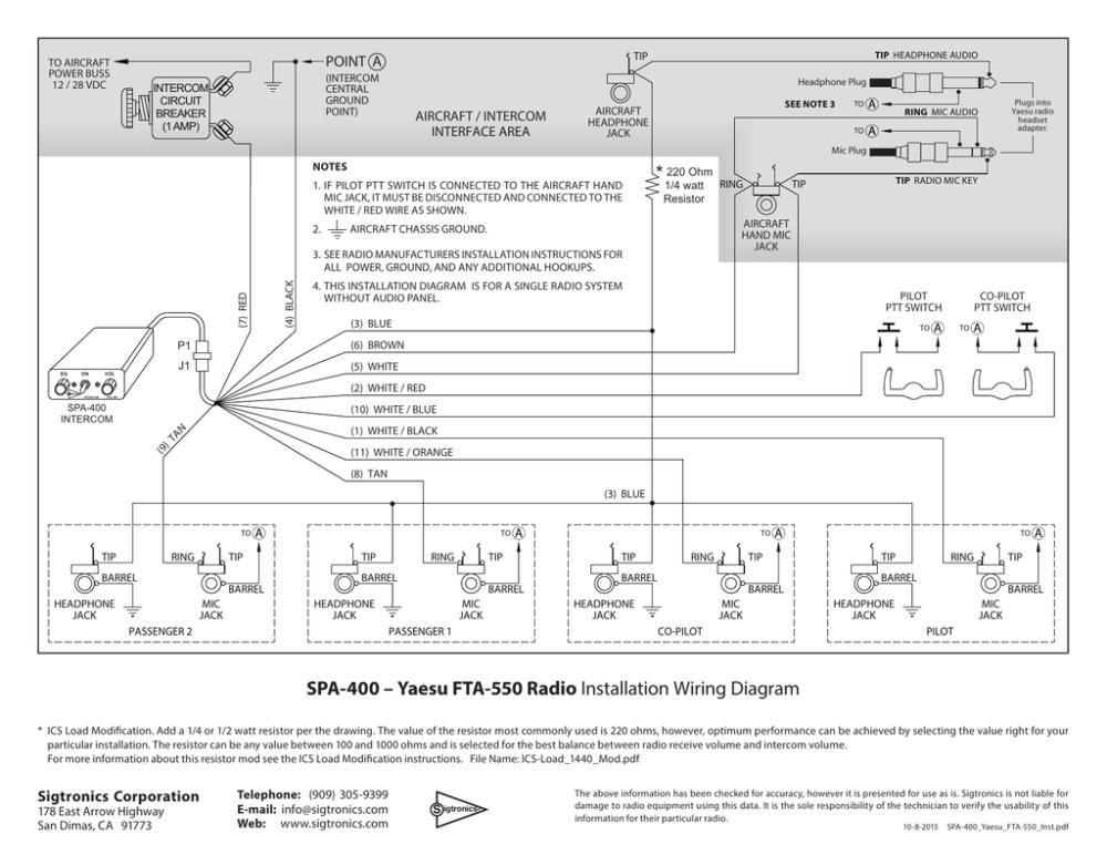 medium resolution of spa 400 yaesu fta 550 radio installation wiring diagram