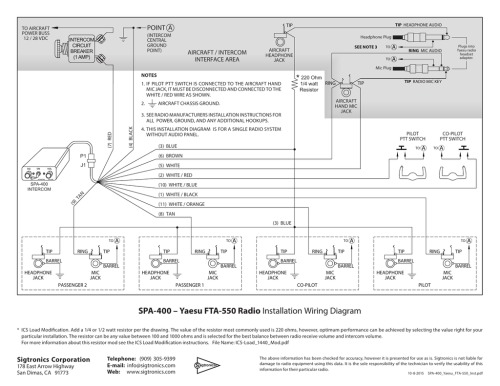 small resolution of spa 400 yaesu fta 550 radio installation wiring diagram