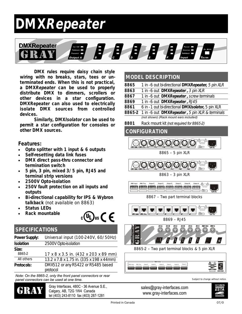 medium resolution of gray dmx repeater
