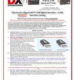 tigertronics signalink usb digital interface cable [ 791 x 1024 Pixel ]
