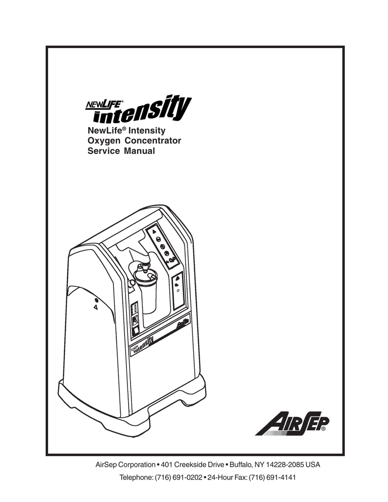 NewLife® Intensity Oxygen Concentrator Service Manual