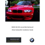 Bmw E46 Convertible Bavsound Ghost Subwoofer Installation Guide Manualzz