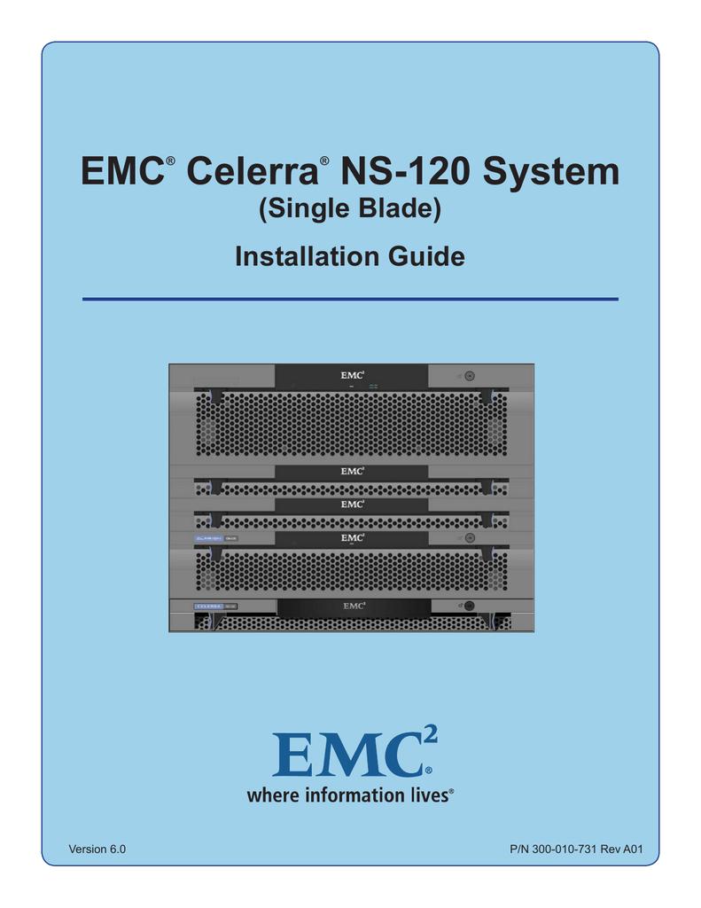 hight resolution of emc celerra ns 120 system single blade installation guide