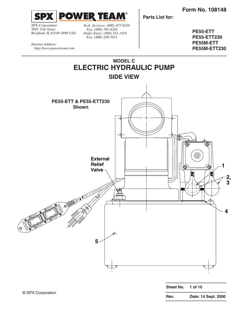 medium resolution of  electric hydraulic pump elliott tool technologies manualzz com on monarch hydraulics wiring diagram