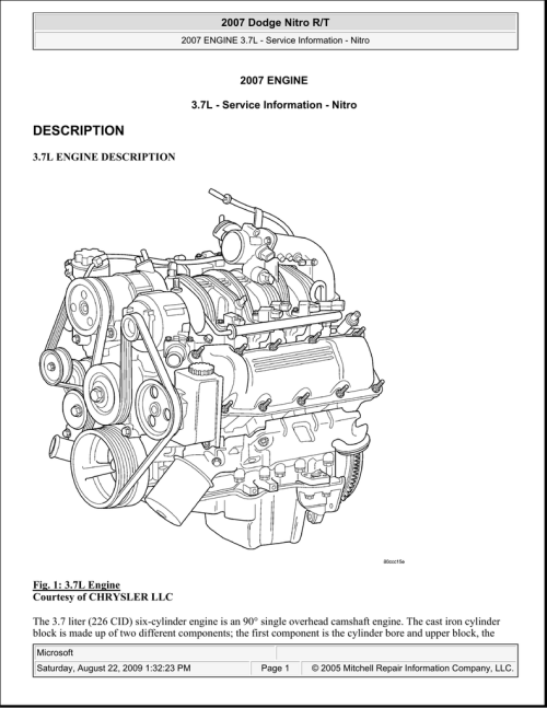 small resolution of 2007 dodge nitro 3 7l engine diagram wiring diagram operations dodge 37l engine diagram