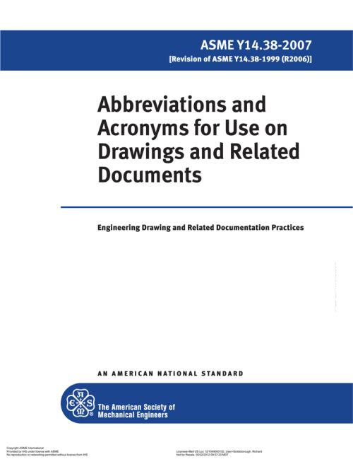 small resolution of abbreviations and acronyms for use on drawings and related