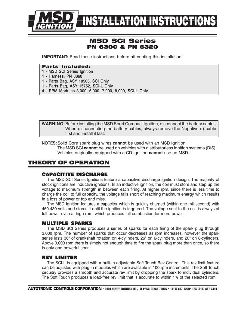 medium resolution of msd 6300 ignition kit installation instructions
