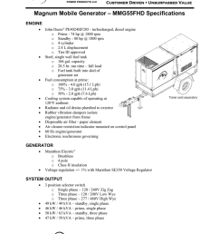 magnum mobile generator mmg55fhd specifications [ 791 x 1024 Pixel ]