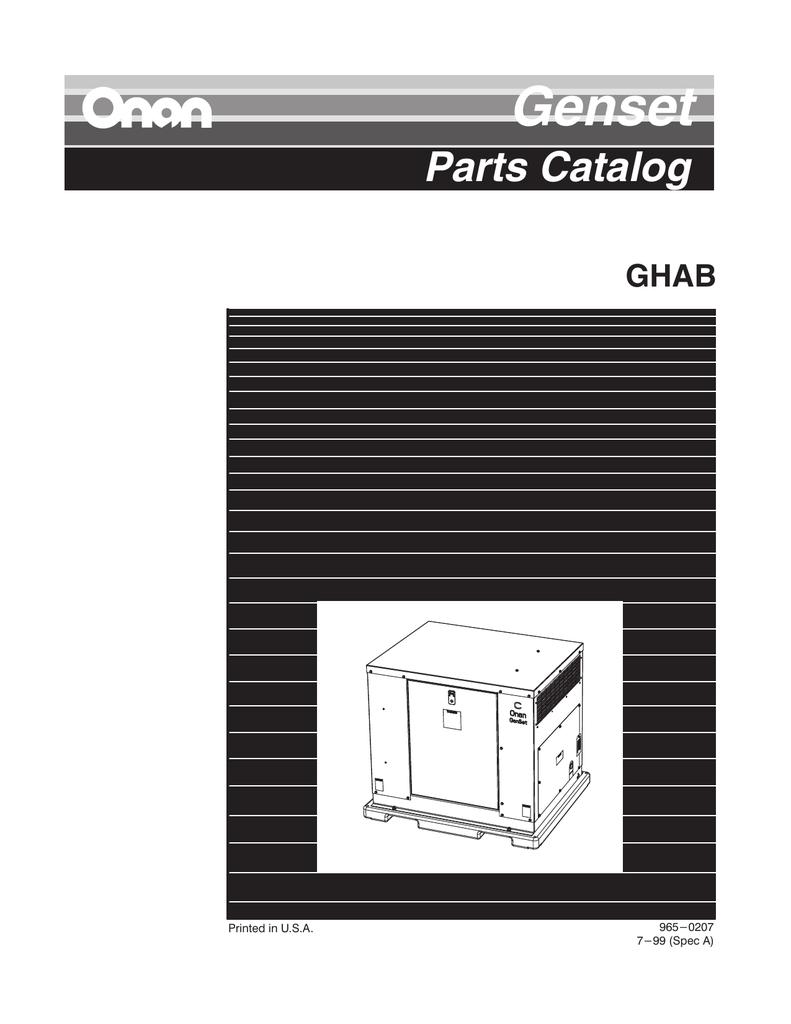 hight resolution of 965 0207 onan ghab spec a genset parts manual