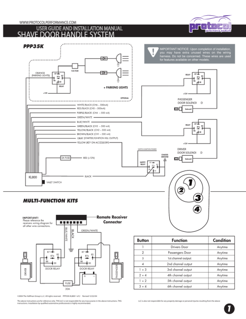 small resolution of shave door handle system wiring d manualzz com remote shaved door wiring diagrams
