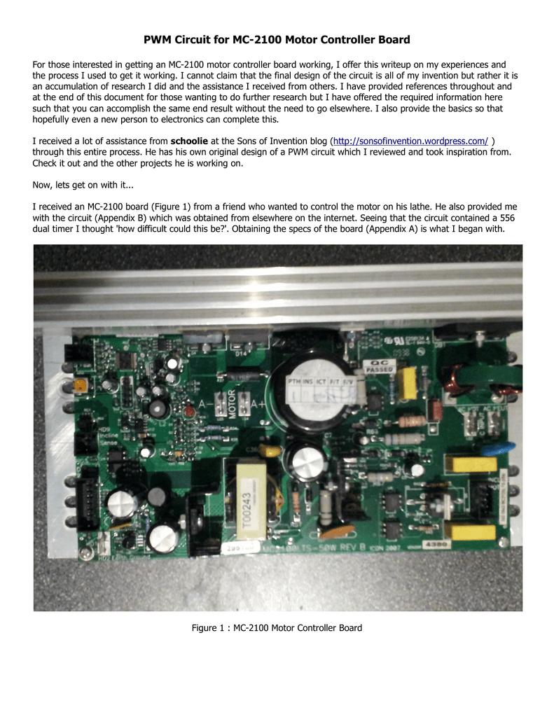 medium resolution of pwm circuit for mc 2100 motor controller board