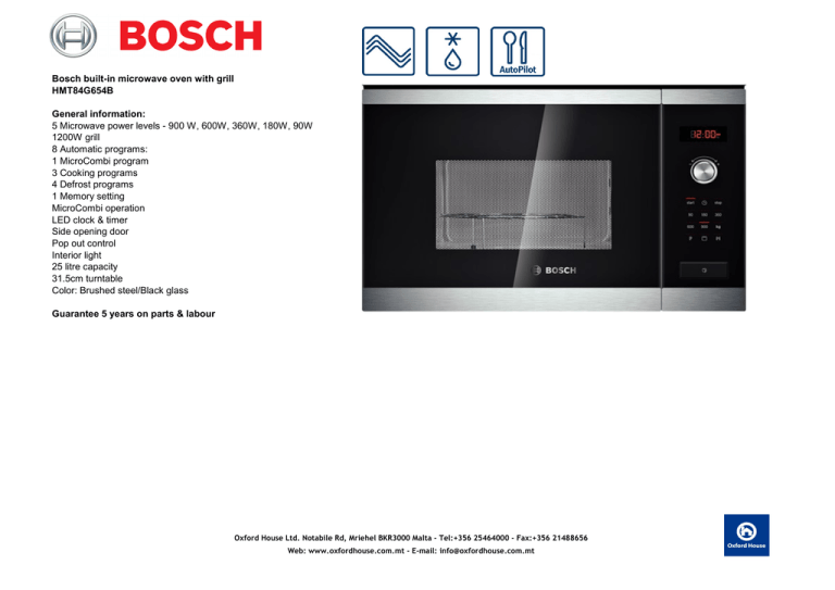 4b bosch built in microwave oven with