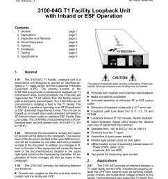 3100 04g t1 facility loopback unit with inband or esf [ 791 x 1024 Pixel ]